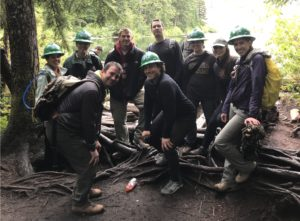 all stars at talapus lake building bridges